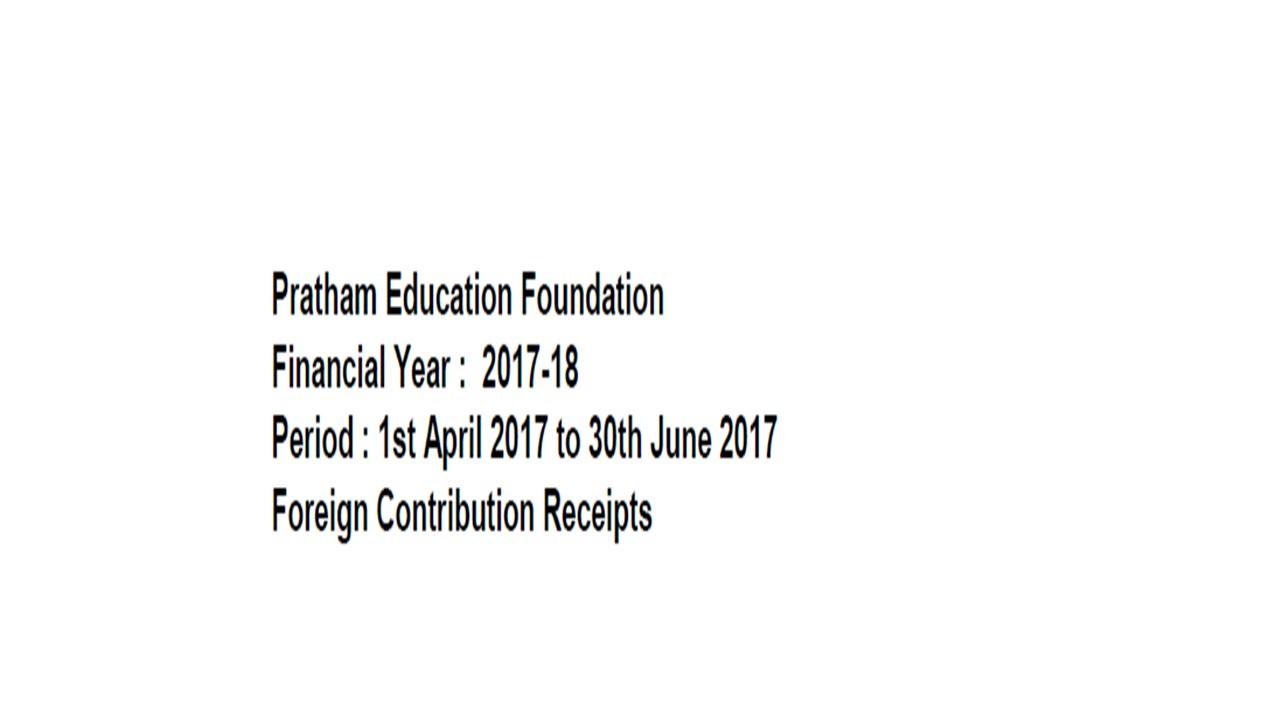 FCRA Declaration - Apr 2017 to June 2017