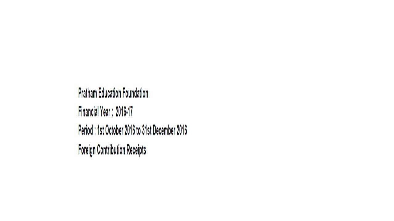 FCRA Declaration - Oct 2016 to Dec 2016