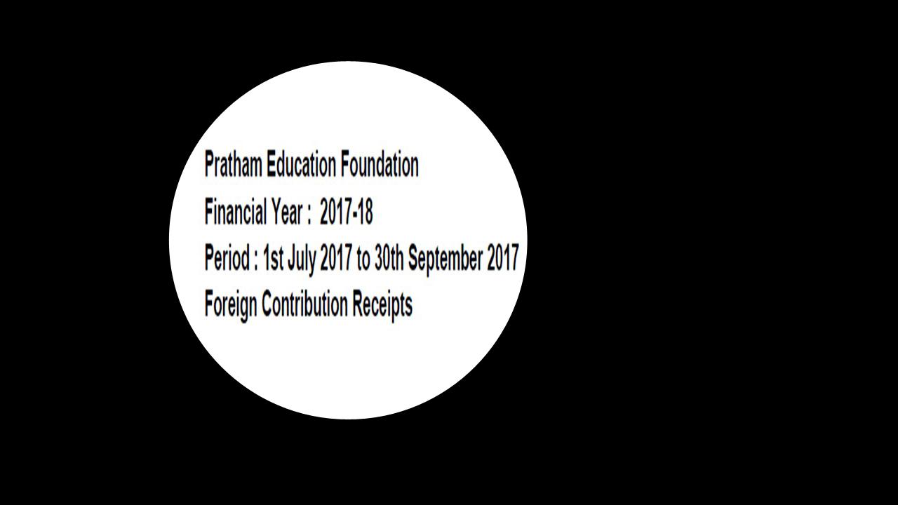FCRA Declaration - July 2017 to Sept 2017