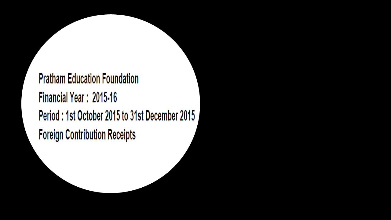 FCRA Declaration - Oct 2015 to Dec 2015