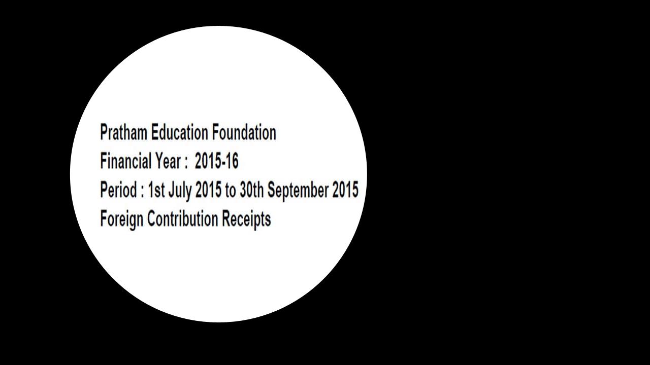 FCRA Declaration - July 2016 to Sept 2016