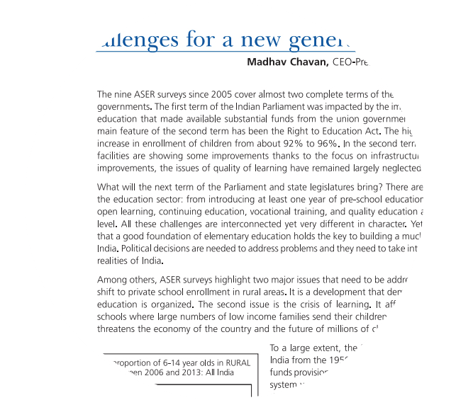 Old Challenges for a new generation