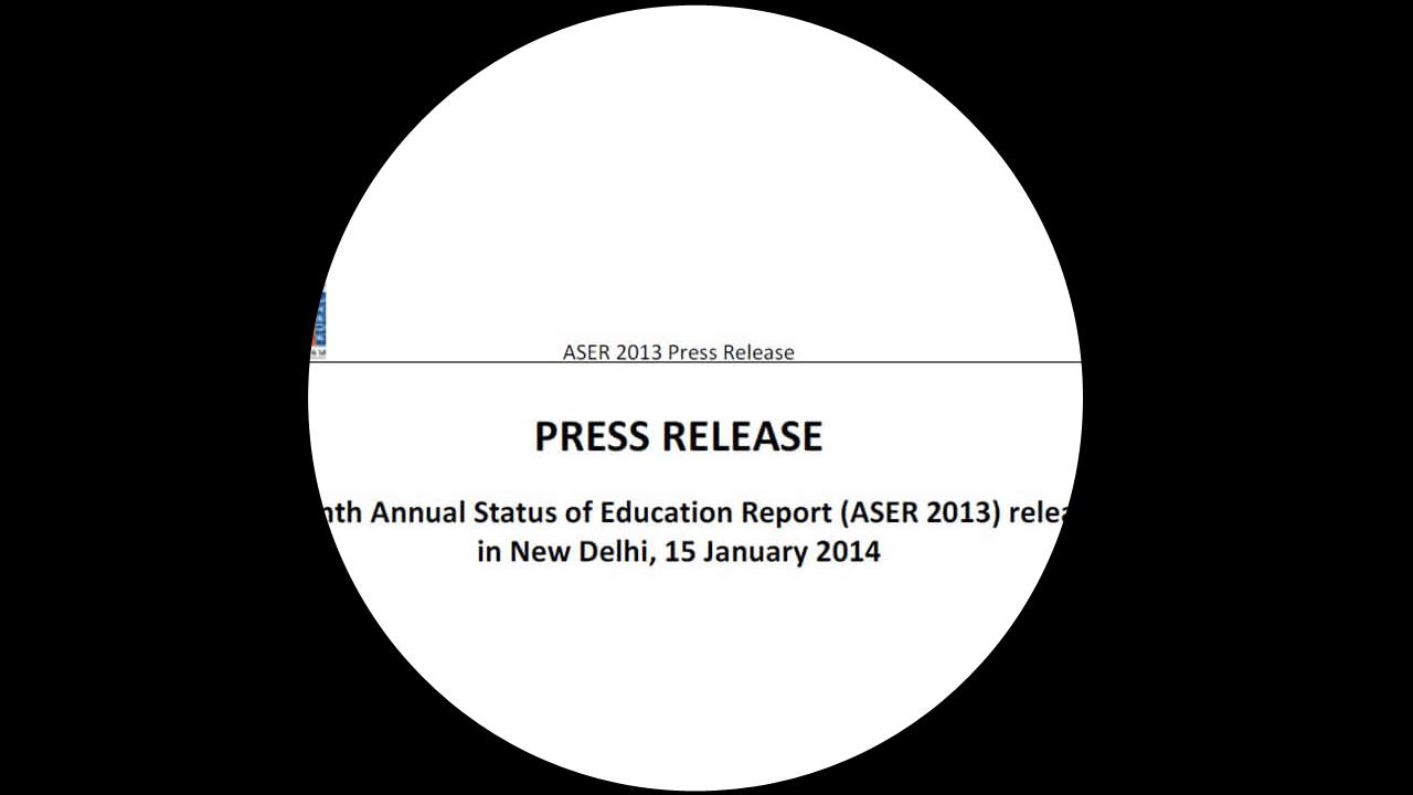 ASER 2013 - Press Release