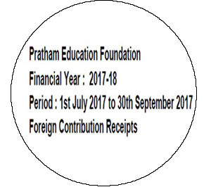 FCRA Declaration - July 2017 to Sept 2017