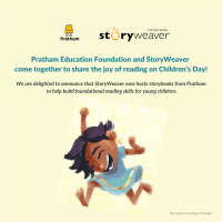 Pratham Education Foundation and StoryWeaver join hands to share the joy of reading on Children's Day