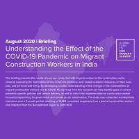 Understanding the effect of the Covid-19 pandemic on Migrant Construction Workers in India